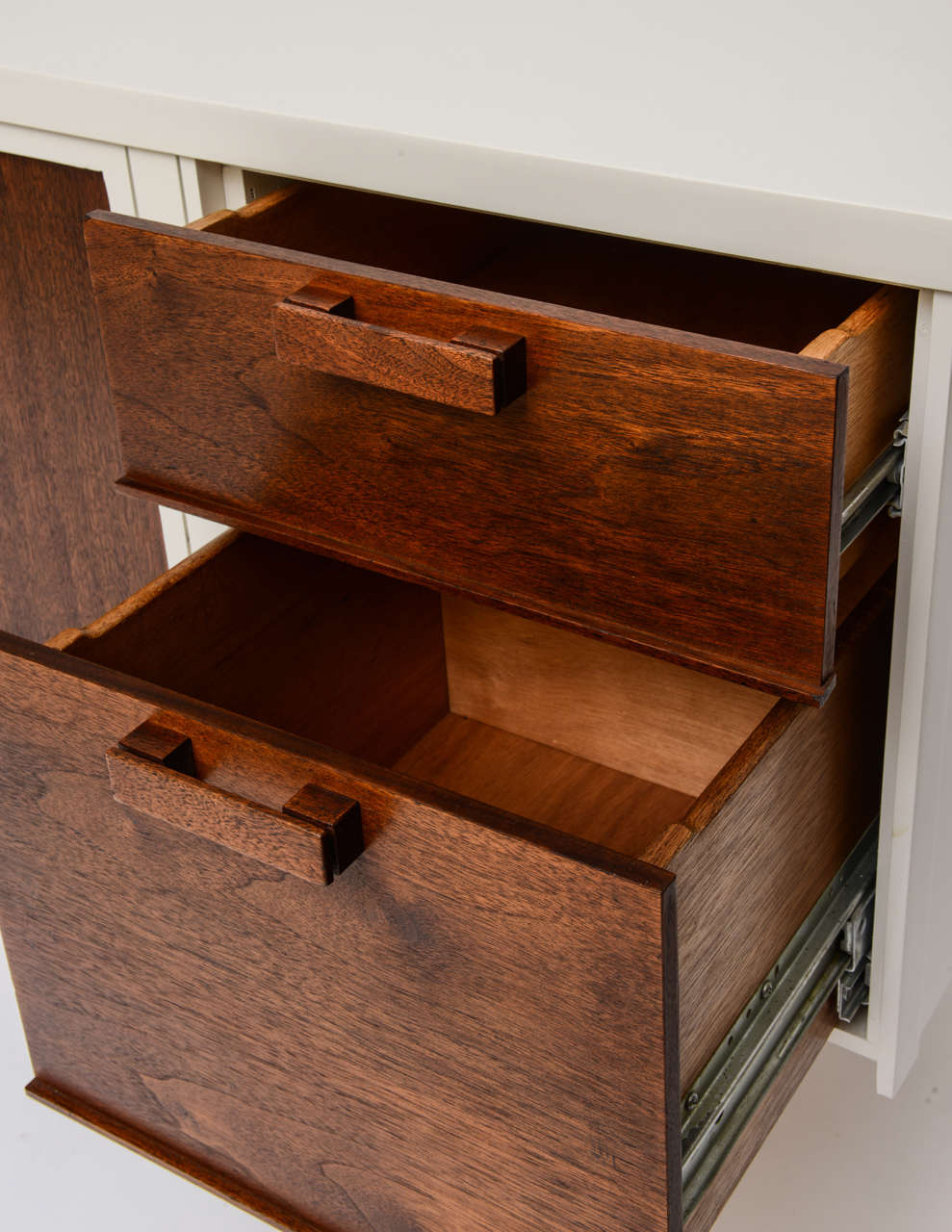60s Modern Lacquered Walnut Credenza At 1stdibs
