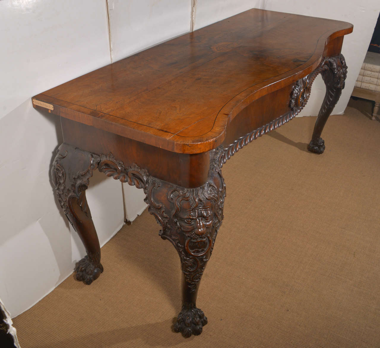 A george ii carved wood console table for sale at 1stdibs a george ii carved wood console table 3 geotapseo Gallery
