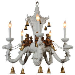 Chinese Style White Painted Chandelier