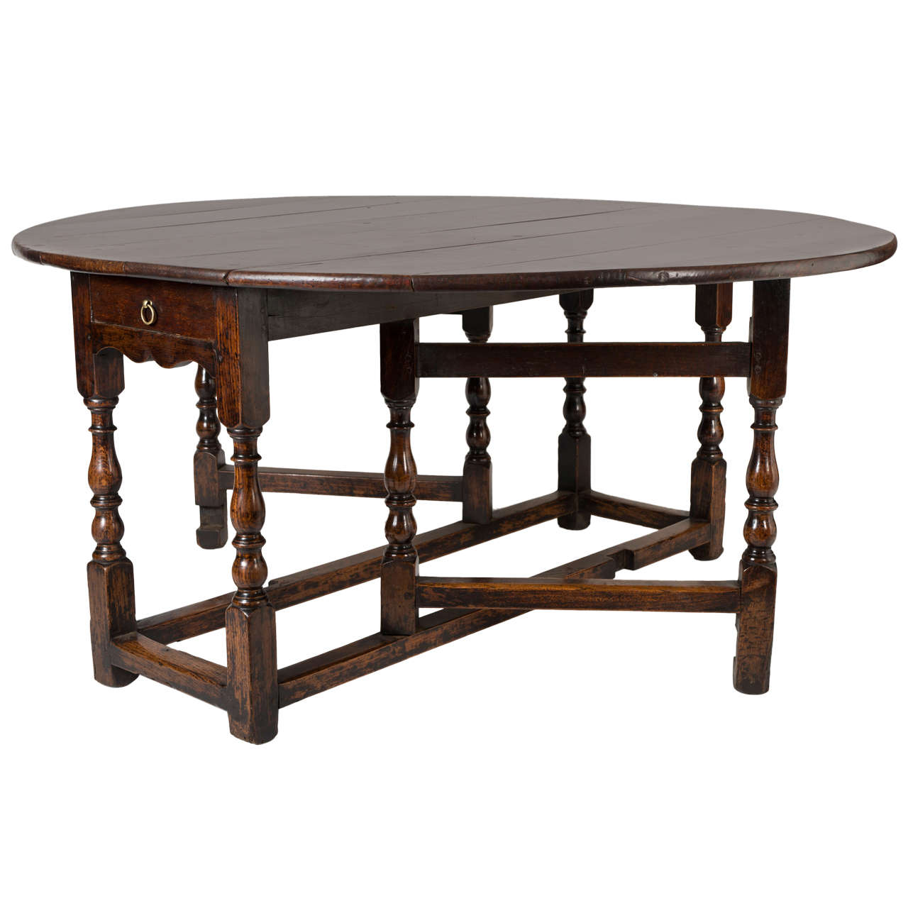 Very Impressive portraiture of Oak gate leg table to seat 8 at 1stdibs with #634130 color and 1280x1280 pixels