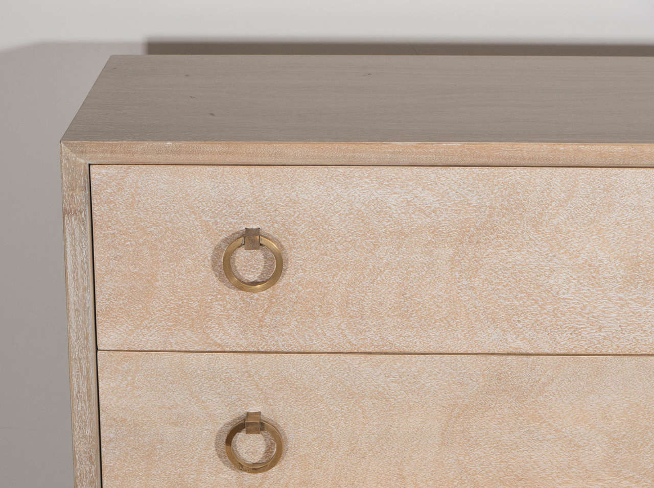 Four Drawer Cerused, T. H. Gibbings, Widdicomb Chest with Brass Pulls 3