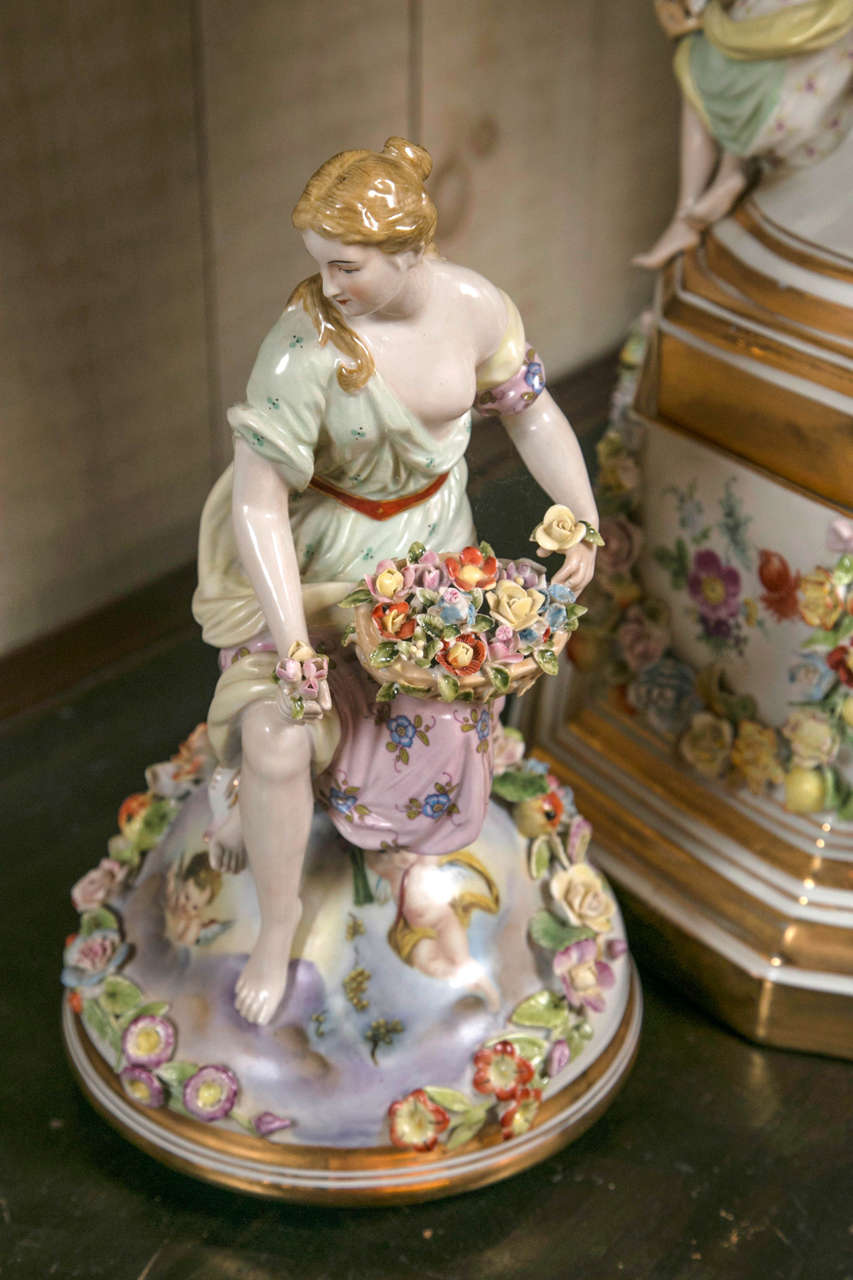 Fantastic Pair of Meissen Style Covered Urns For Sale 1