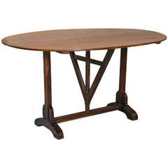 Oval Oak Vendange Table