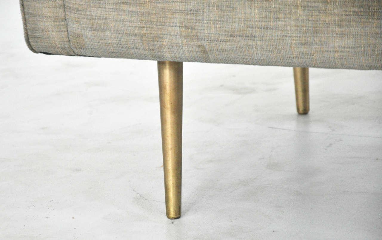 American Dunbar Sofa On Brass Legs By Edward Wormley For Sale