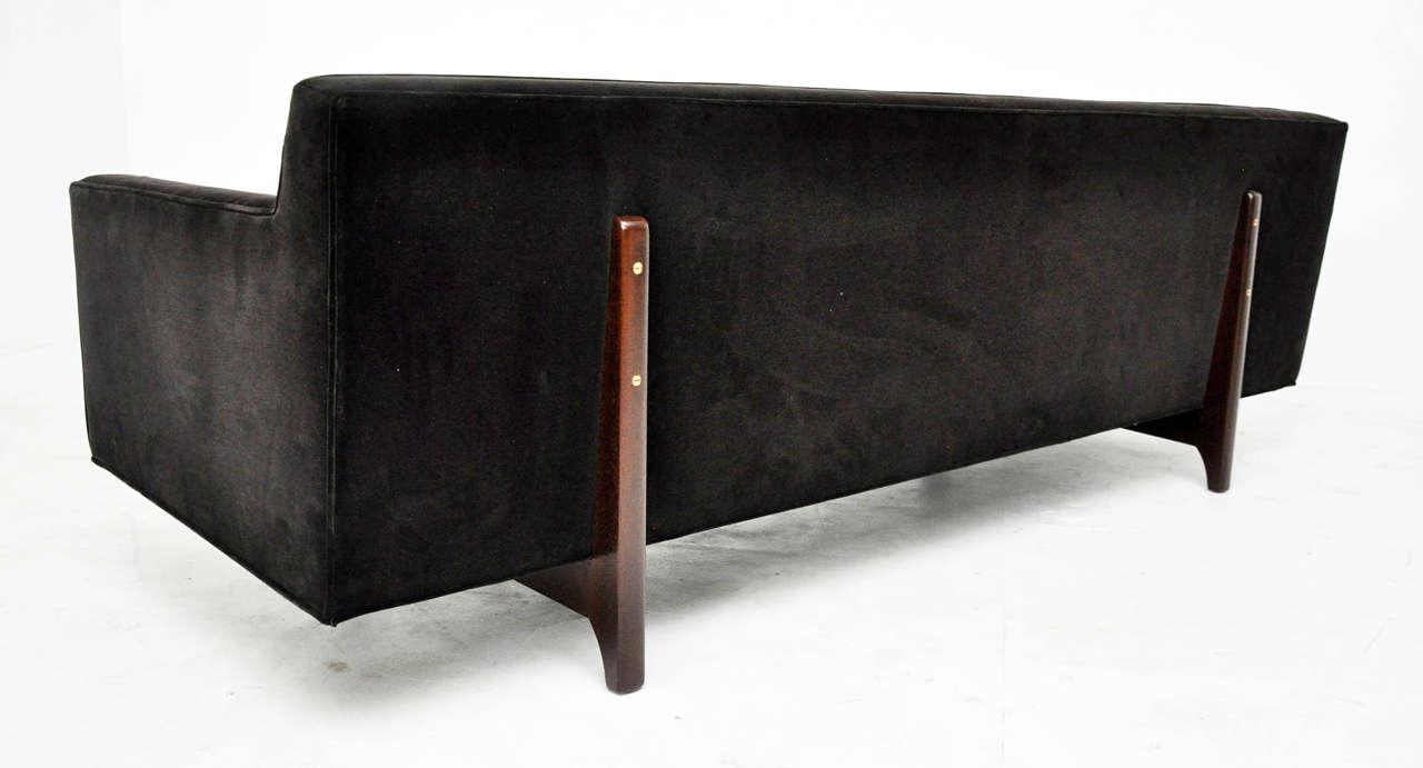 Wood Dunbar Bracket-Back Sofa by Edward Wormley For Sale
