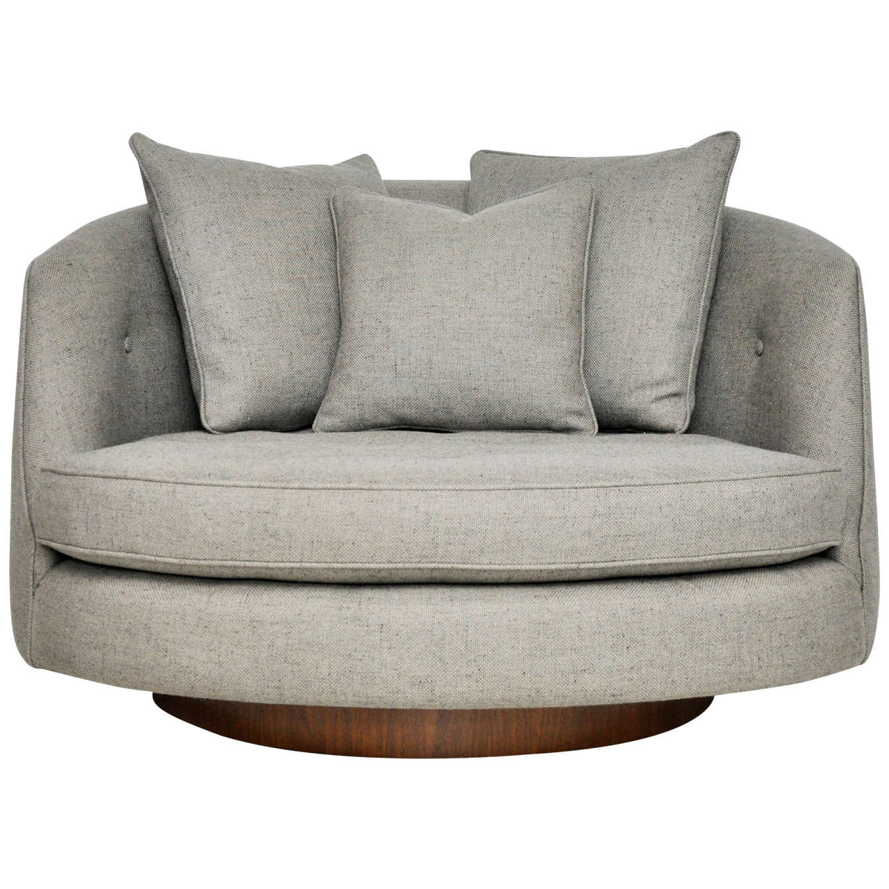 Milo baughman large swivel chair at 1stdibs for Large armchair