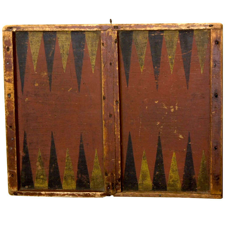 Gameboard Backgammon And Checkers At 1stdibs
