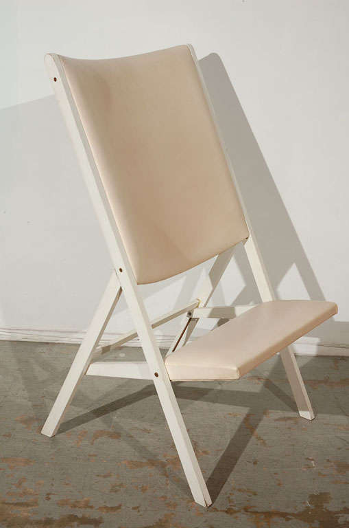 The typology of folding chairs was at one point an object of much interest in Italy. Deriving from 19th century Campaign furniture, but expressing the revolutionary values of temporariness and portability beloved of post-'68 European