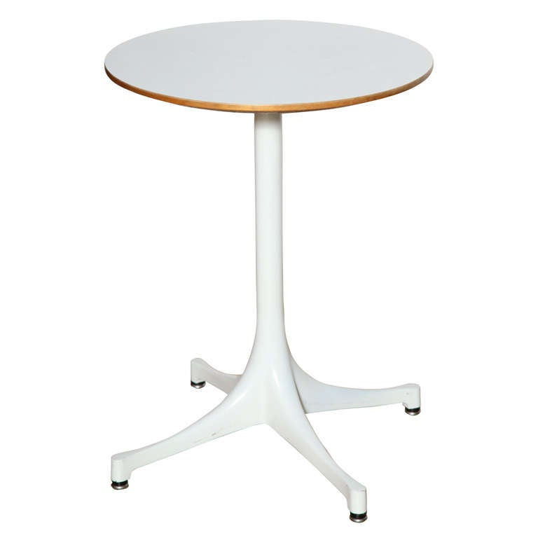 1960's George Nelson for Herman Miller White 5451 Occasional Table