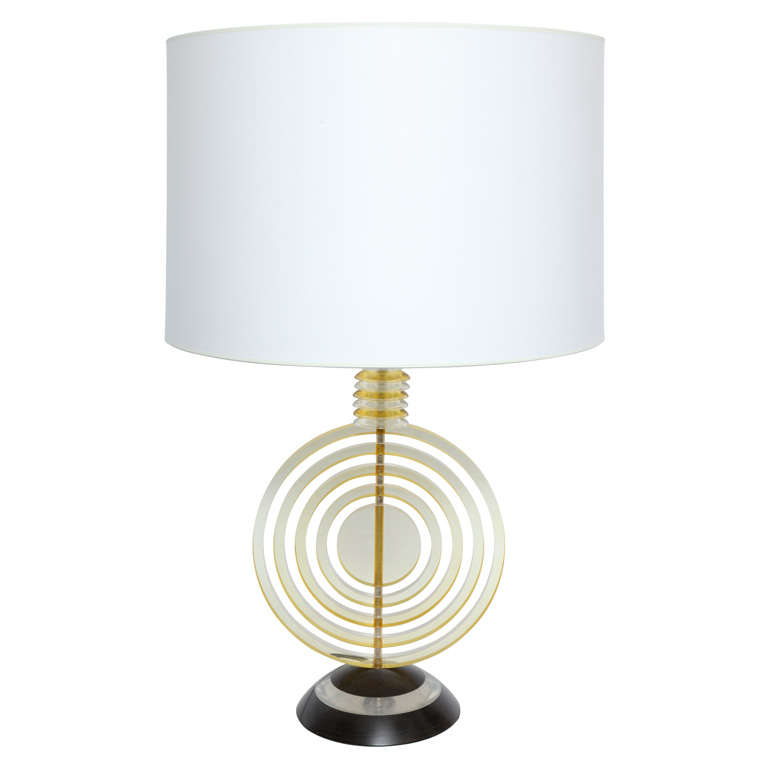 1930s American Modernist Sculptural Table Lamp