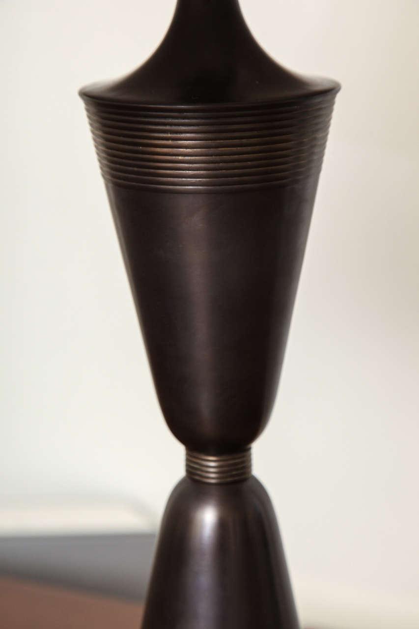 urn shaped oil rubbed bronze lamp at 1stdibs. Black Bedroom Furniture Sets. Home Design Ideas