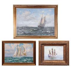 Vintage Sail Boat Paintings