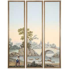 Framed Zuber Triptych