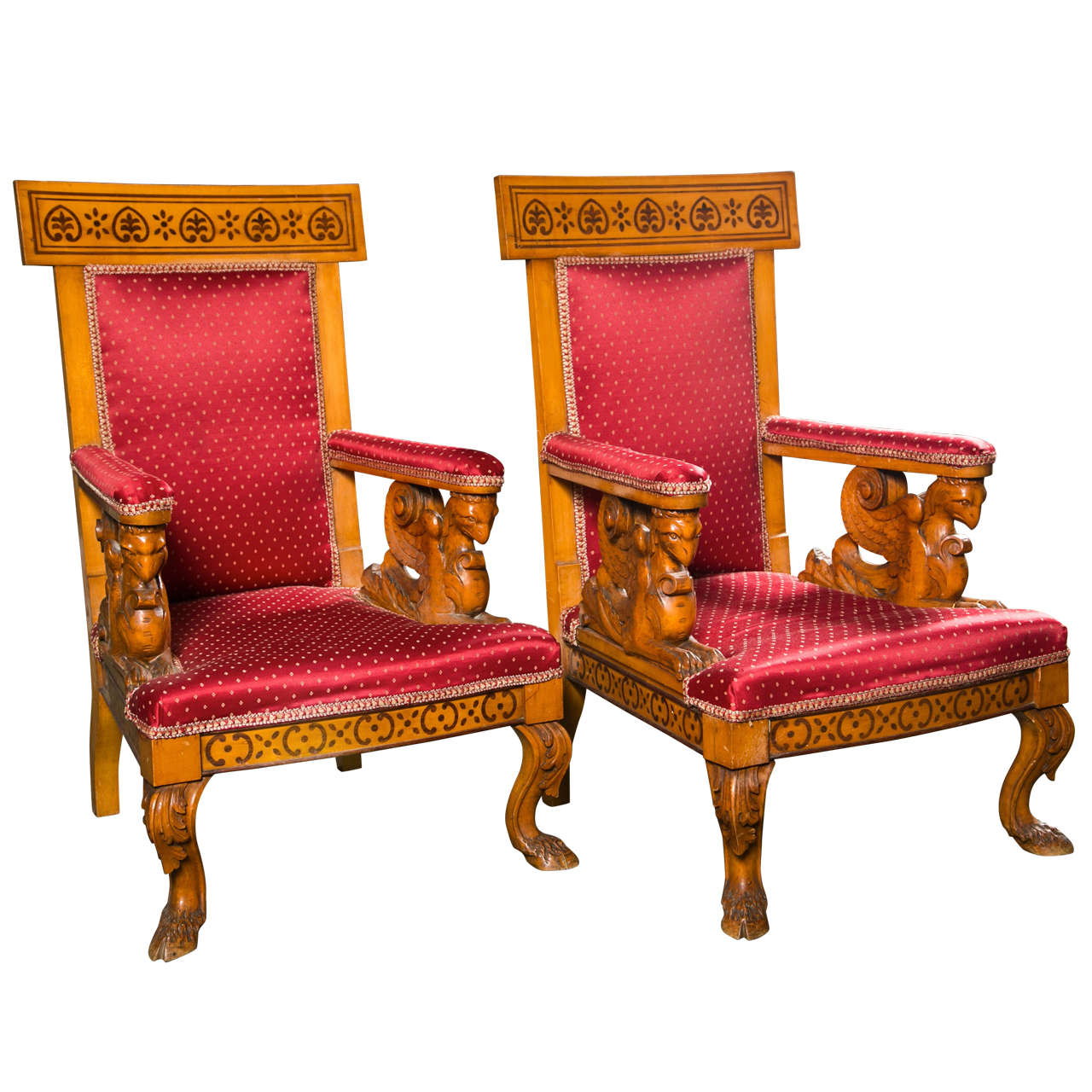 Pair of italian charles x armchairs circa 1825 at 1stdibs for Furniture 1825