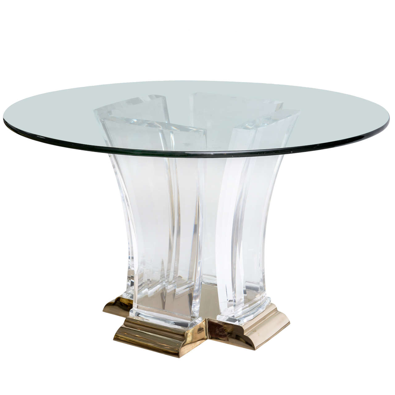 lucite and brass dining tablejeffrey bigelow at 1stdibs