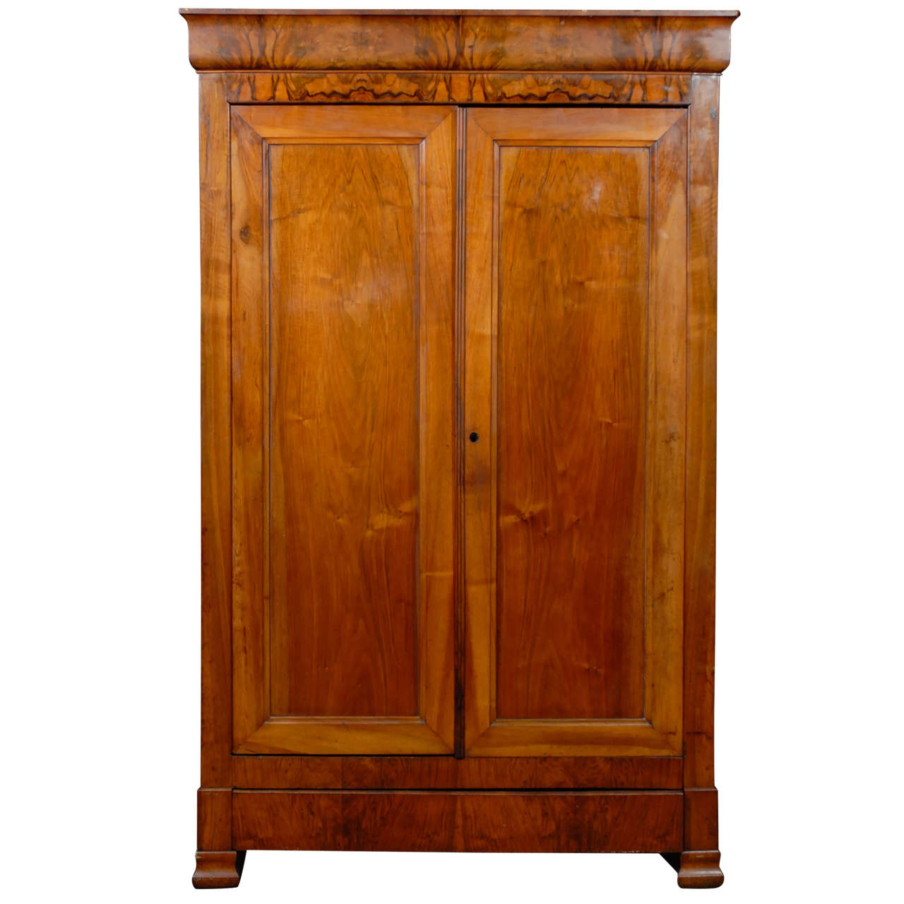 walnut louis philippe armoire at 1stdibs. Black Bedroom Furniture Sets. Home Design Ideas