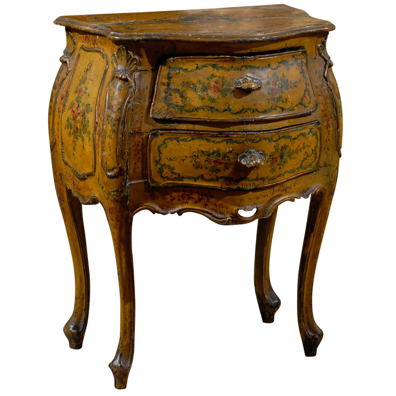 venetian painted petite commode at 1stdibs. Black Bedroom Furniture Sets. Home Design Ideas
