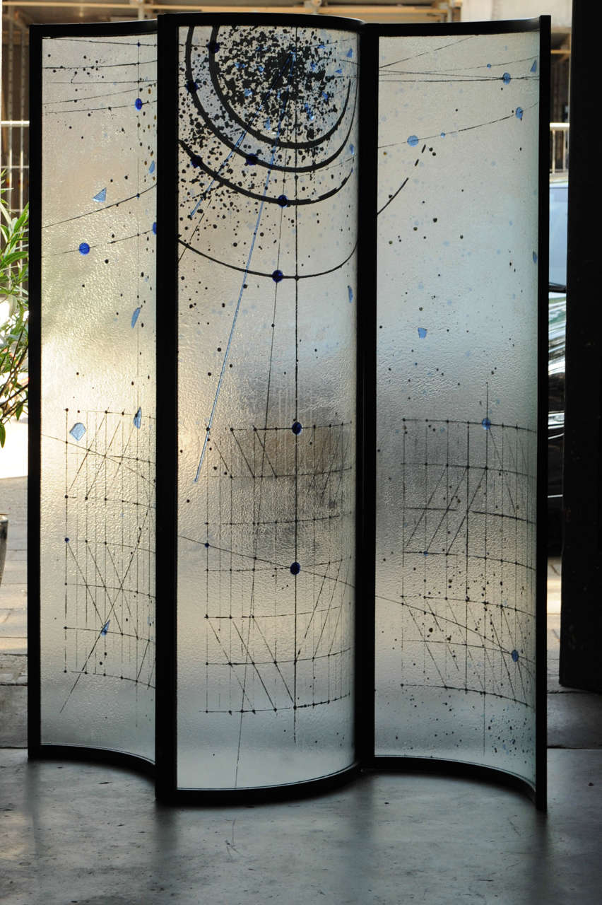 Glass Voyeur Screen Room Divider By Fiam At 1stdibs