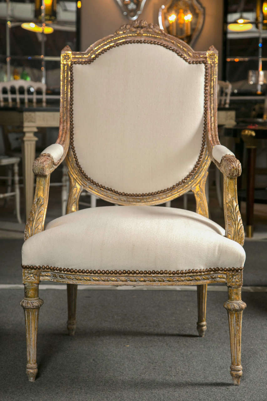 pair of french louis philippe style fauteuils at 1stdibs. Black Bedroom Furniture Sets. Home Design Ideas