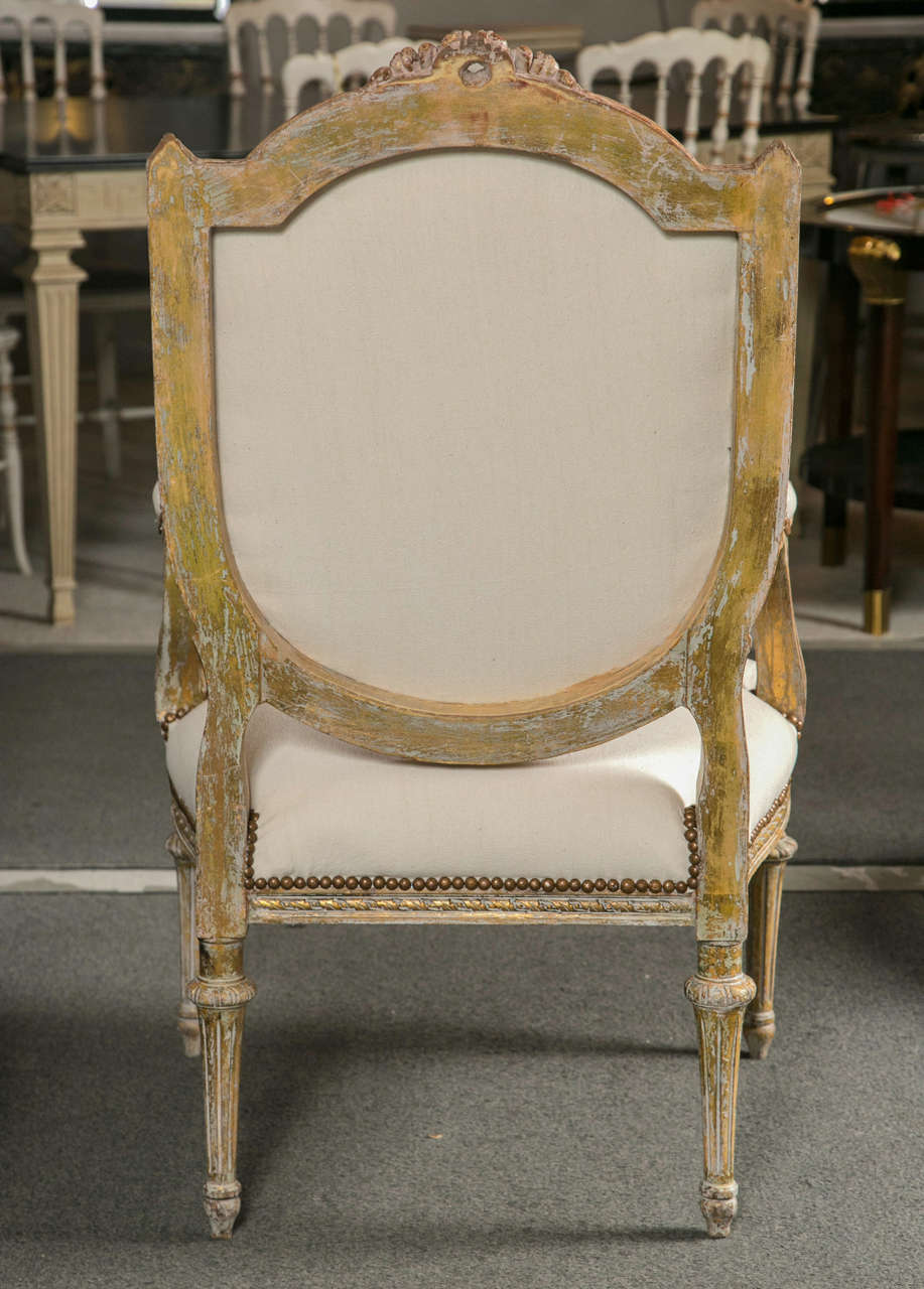 pair of louis philippe style fauteuils at 1stdibs