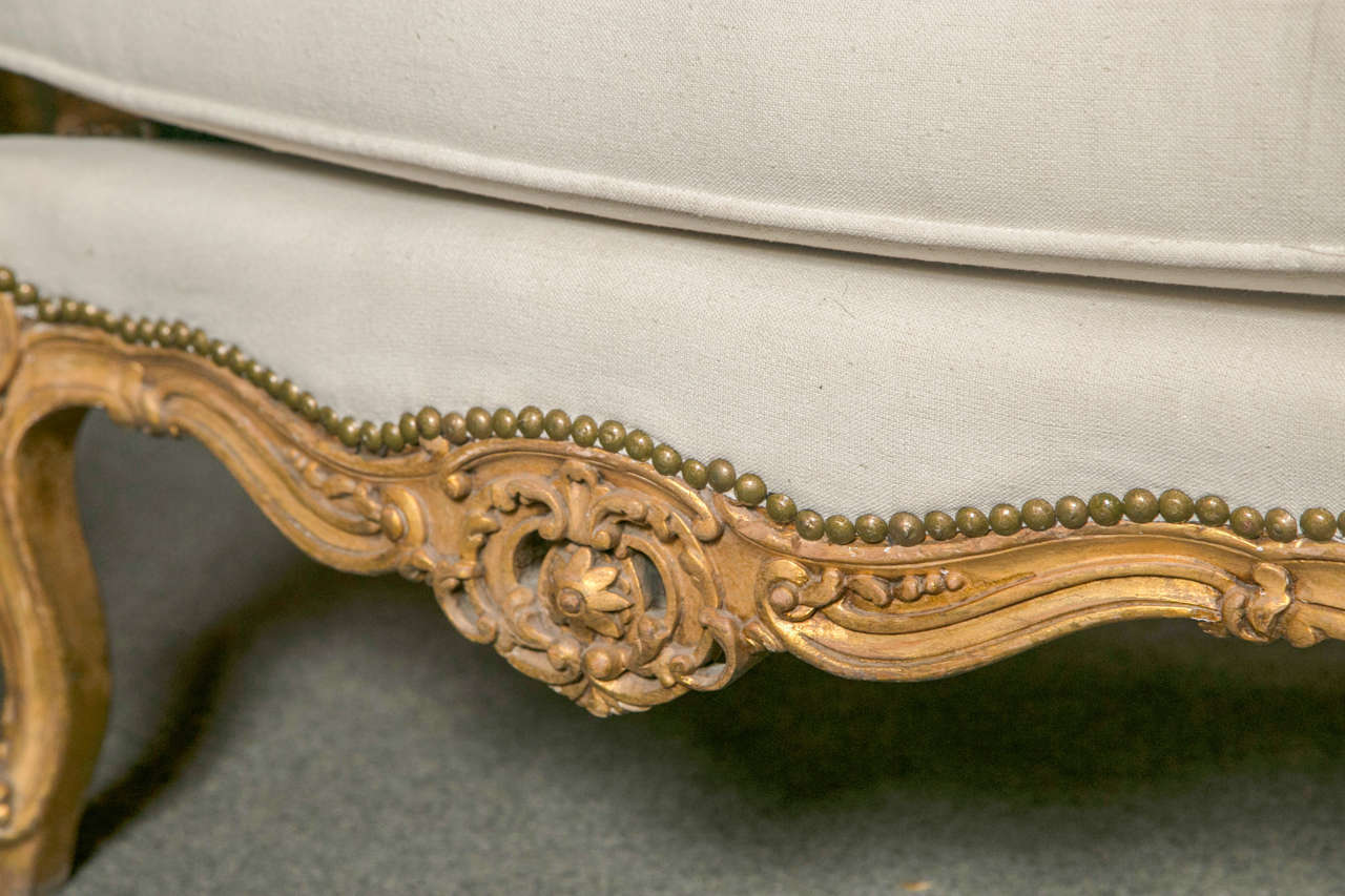 Pair of French Louis XV Style Wingback Bergere Chairs 2