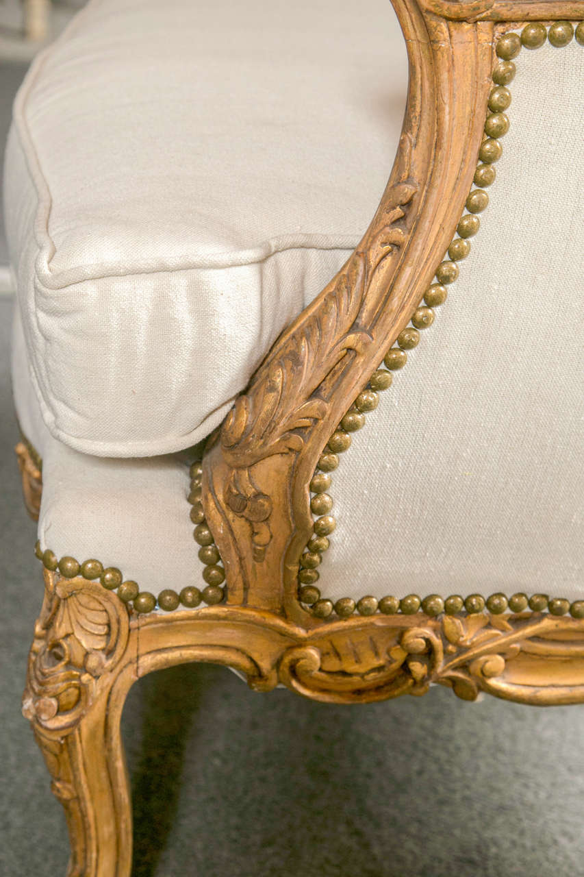 Pair of French Louis XV Style Wingback Bergere Chairs 5