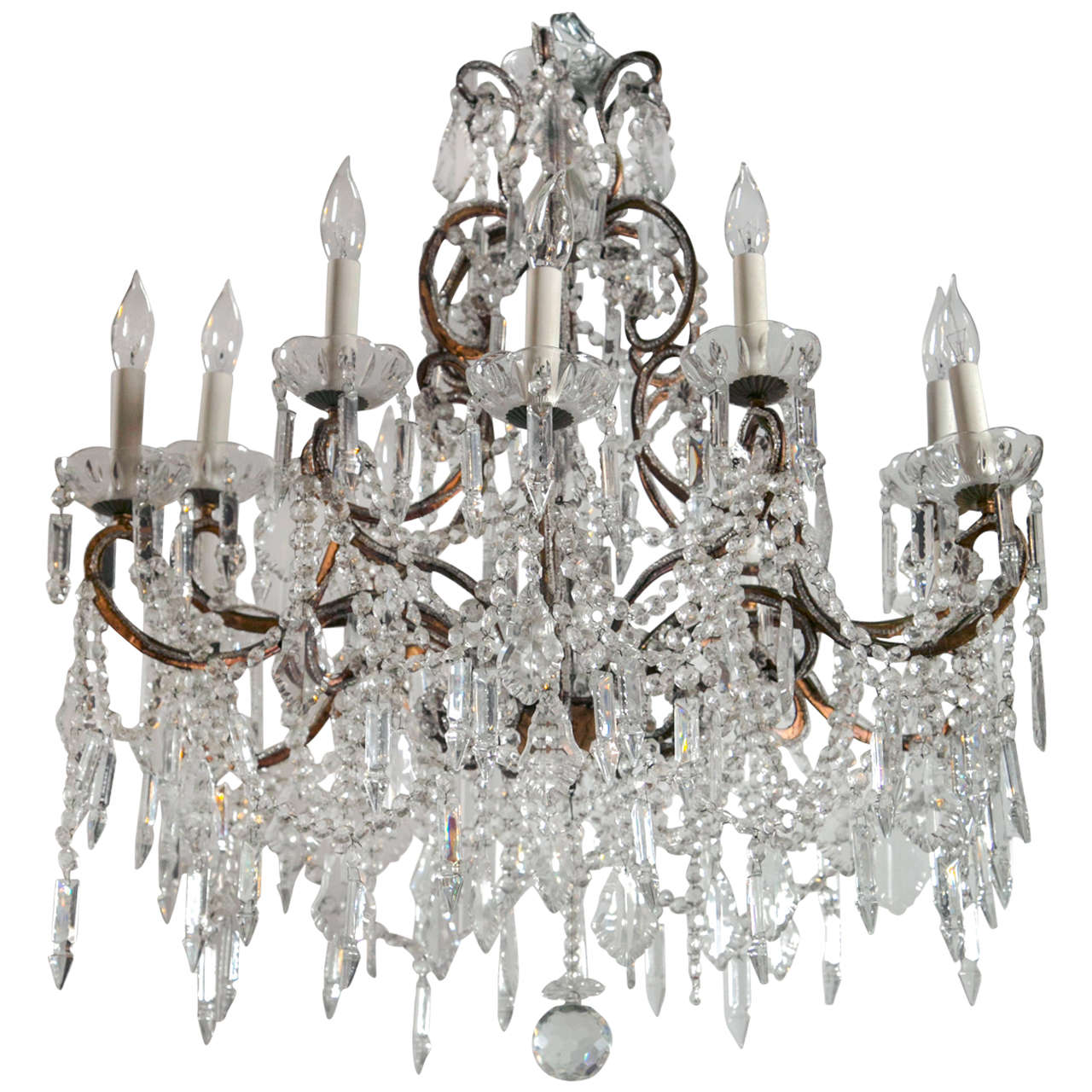 Vintage French Marie Therese Crystal Chandeliers For Sale - Vintage French Marie Therese Crystal Chandeliers At 1stdibs
