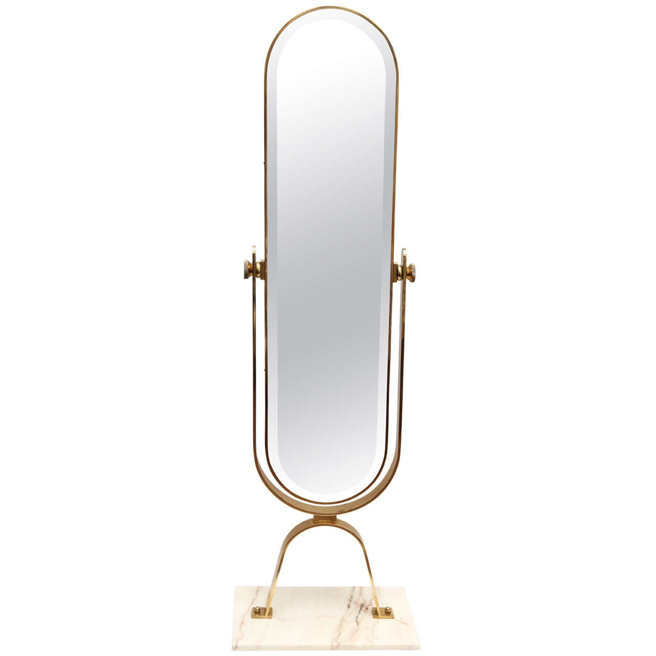 Italian brass cheval mirror at 1stdibs for Cheval mirror