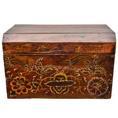Early 20th Century Qing Dynasty Shanxi Golden Painted Document Box