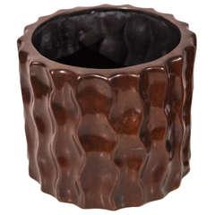 Bronze, Round, Wavy Planter