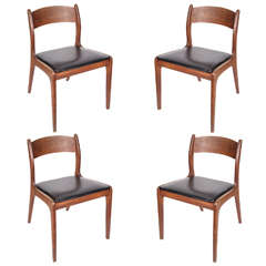Set of Four Mid-Century Modern Chairs