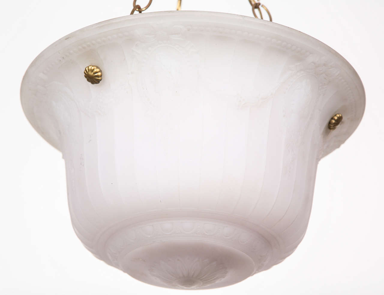 American Cast Glass Turn of the Century Dish Light For Sale
