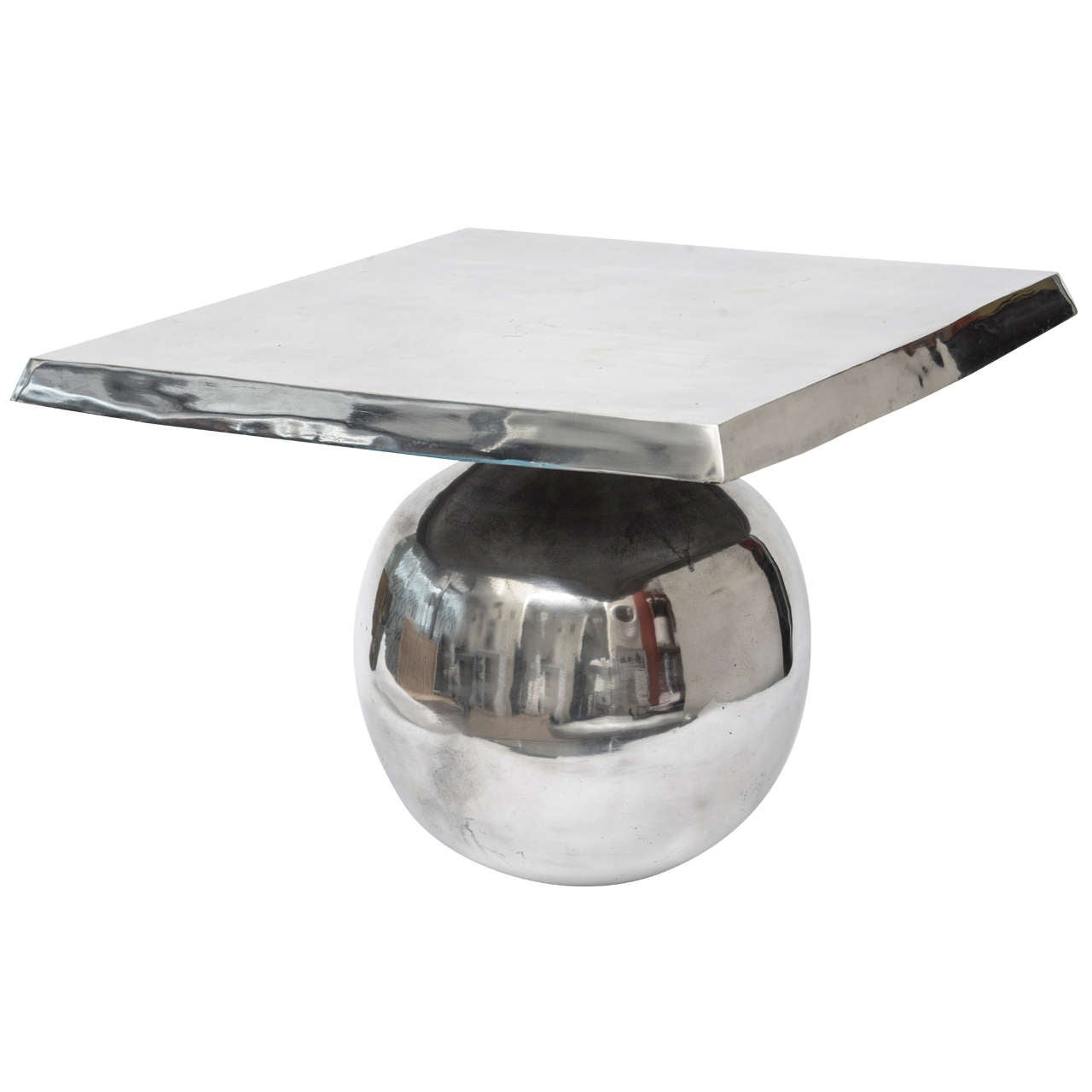 Side Square/Ball Sculptural Side Table