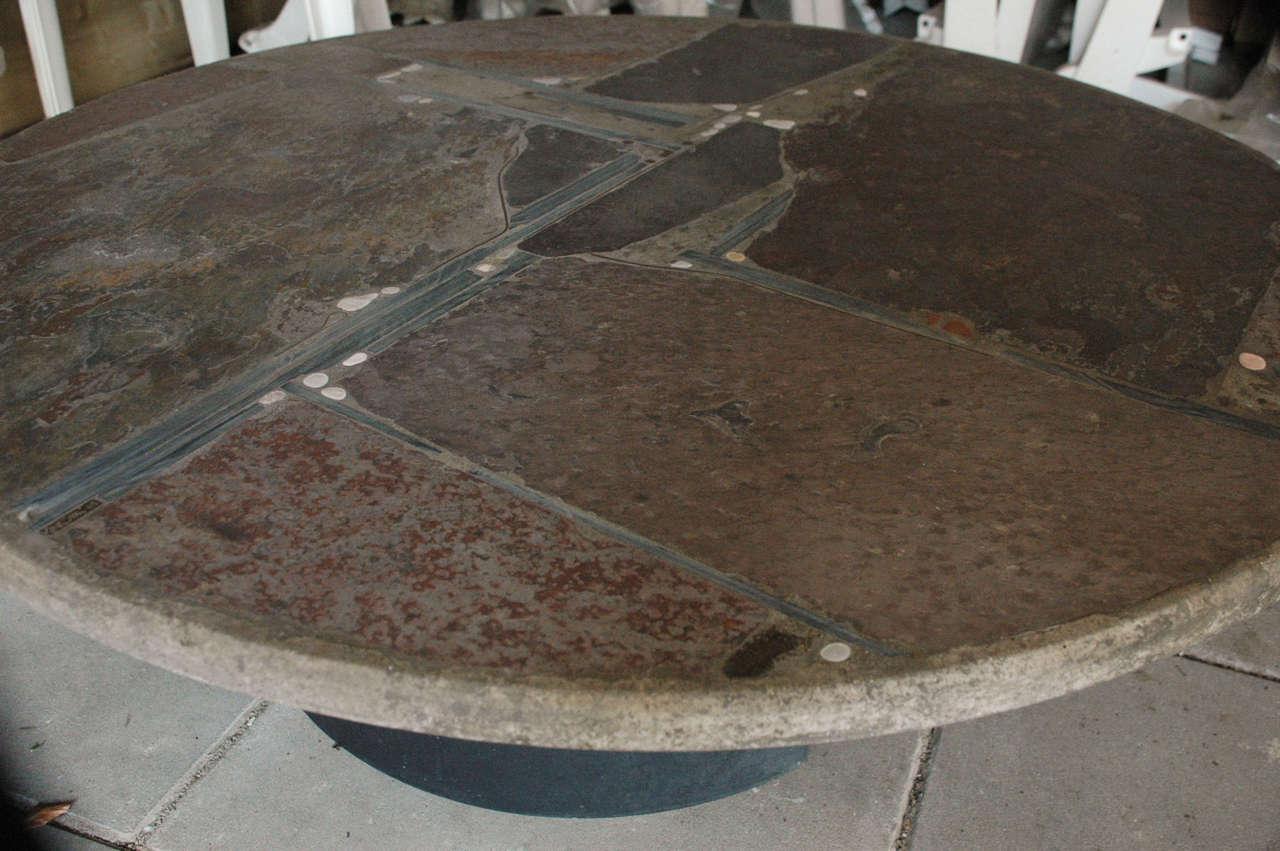 Dutch Paul Kingma slate stone coffee table For Sale