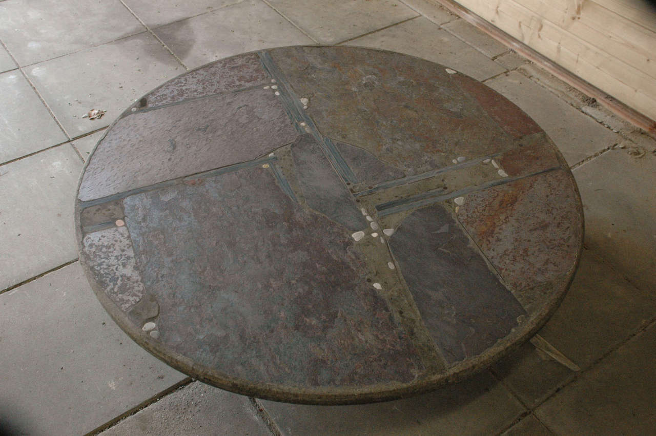 Paul Kingma slate stone coffee table In Excellent Condition For Sale In Amsterdam, NL