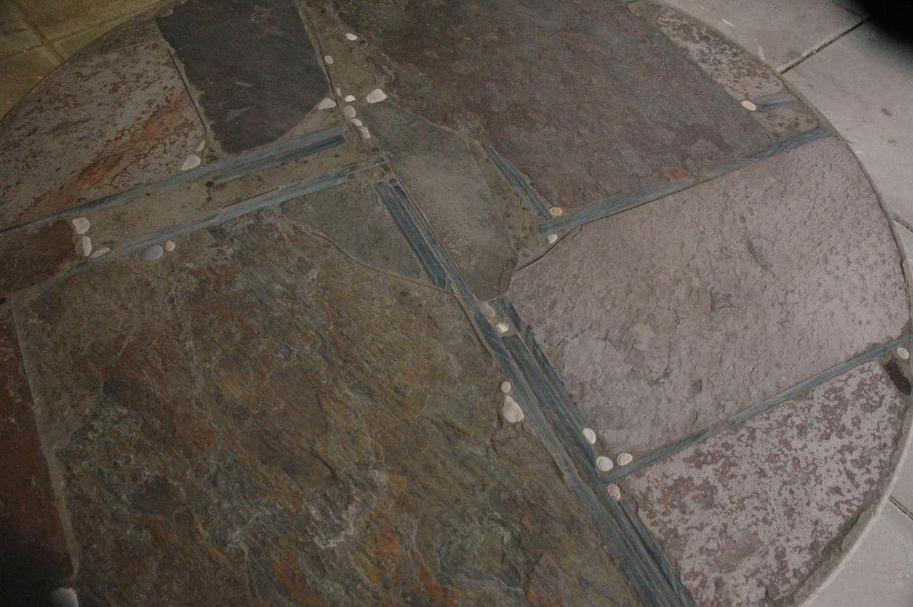 20th Century Paul Kingma slate stone coffee table For Sale
