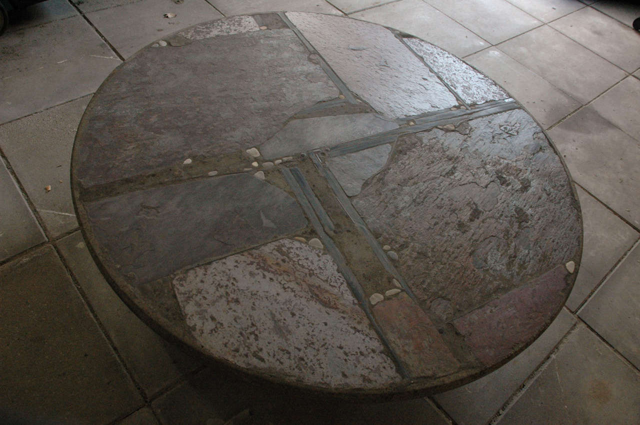 Paul Kingma slate stone coffee table For Sale 2