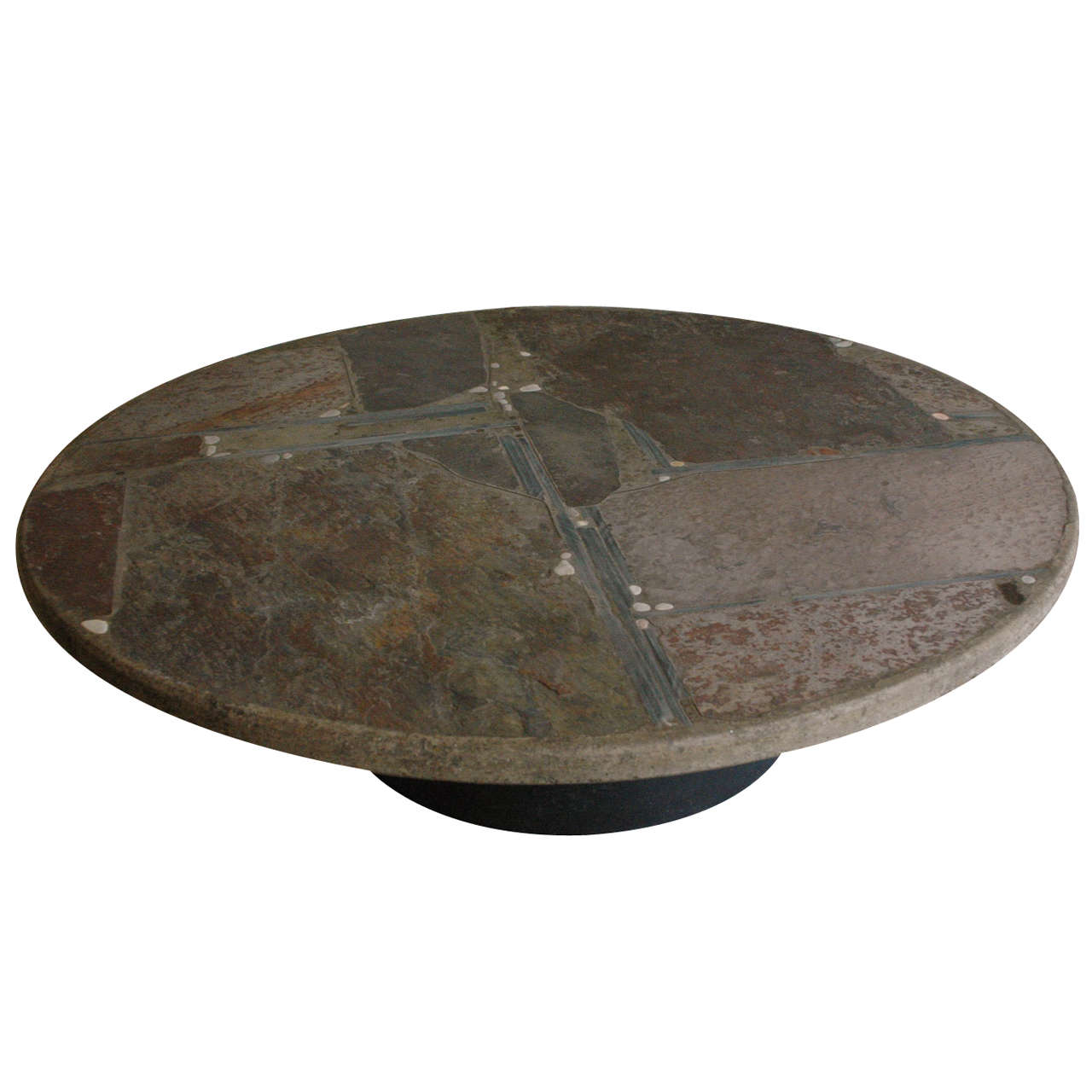 Paul kingma slate stone coffee table at 1stdibs Stone coffee table