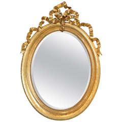 19th Century Louis XVI Gilt Mirror, Circa 1830