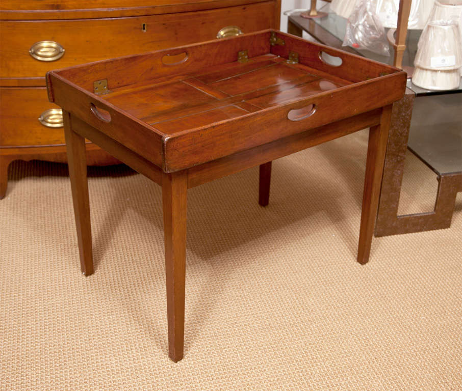 19th Century Mahogany Folding Butler's Tray Occasional Table For Sale 1