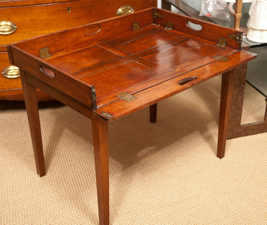 19th Century Mahogany Folding Butler's Tray Occasional Table For Sale 2