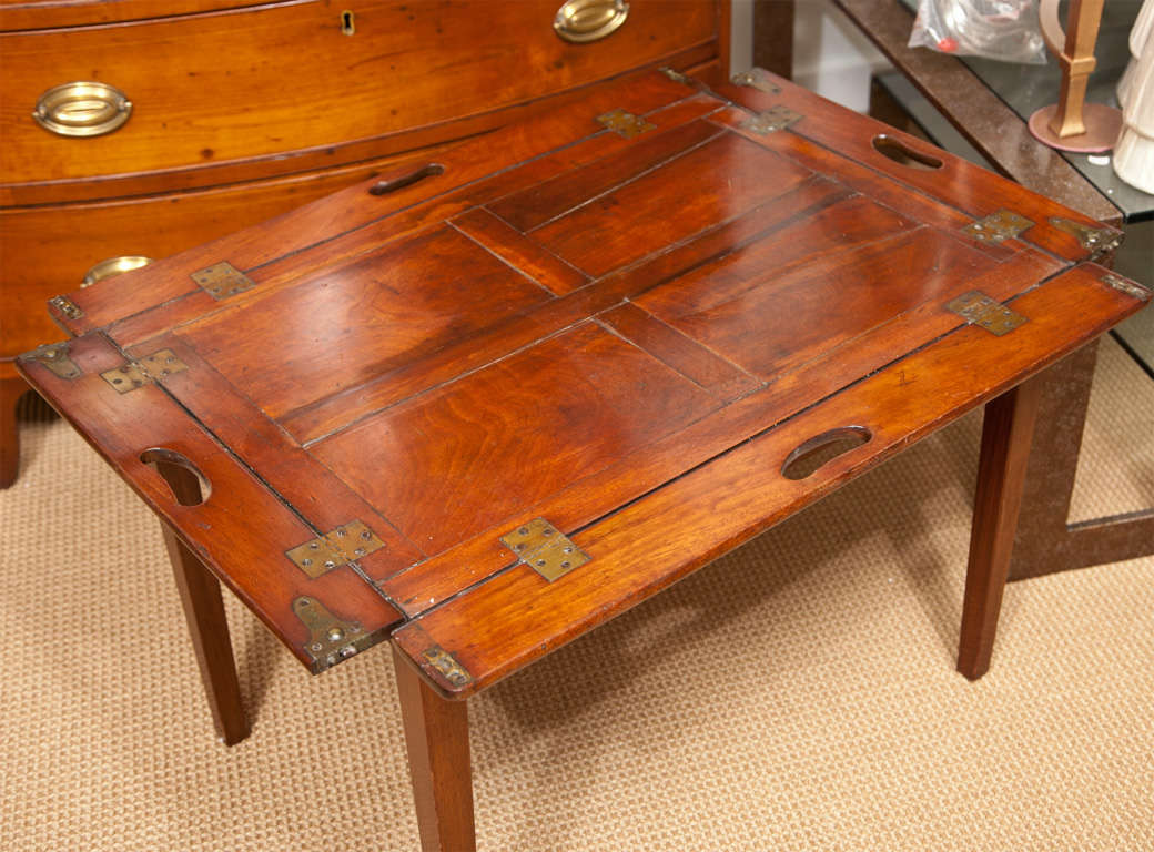 19th Century Mahogany Folding Butler's Tray Occasional Table For Sale 4