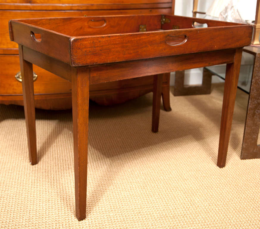 19th Century Mahogany Folding Butler's Tray Occasional Table For Sale 5