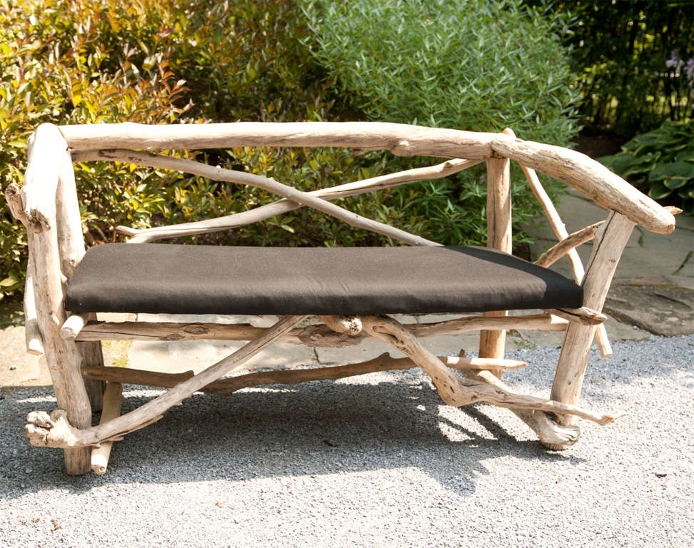 French Artisan Crafted Driftwood Bench At 1stdibs
