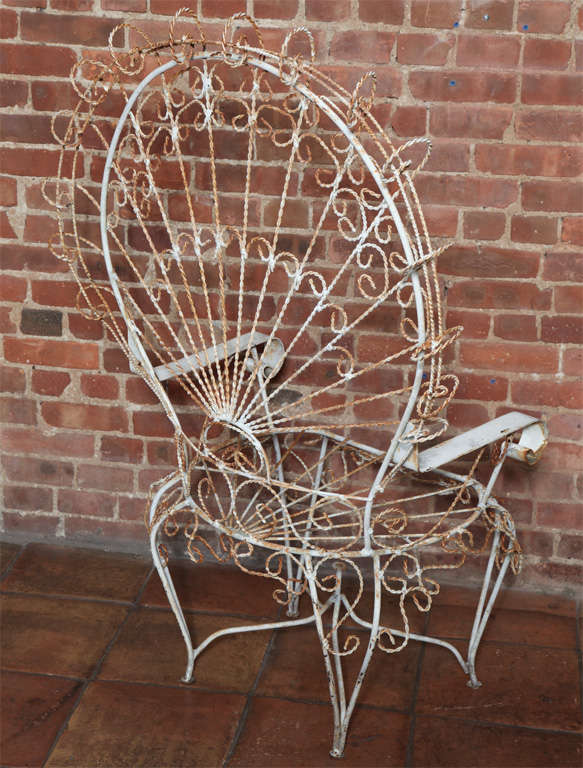 Antique French Peacock Garden Chairs At 1stdibs