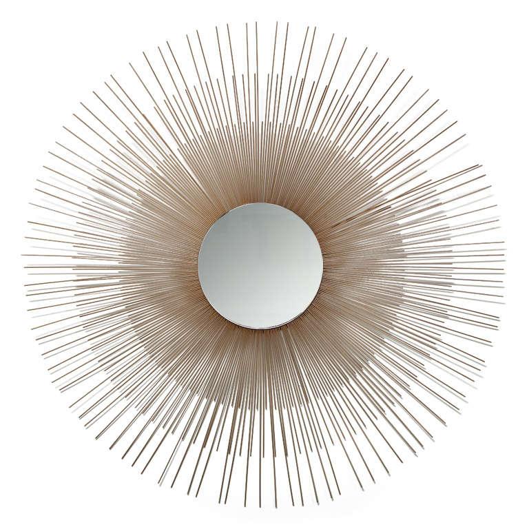 Mid Century Modern Br Starburst Mirror For