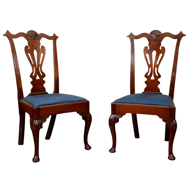 United Nations Dining Room: American Transitional Chippendales Chairs At 1stdibs