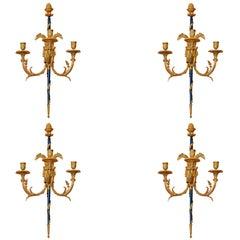 Set of Louis XVI Bronze Wall Lights