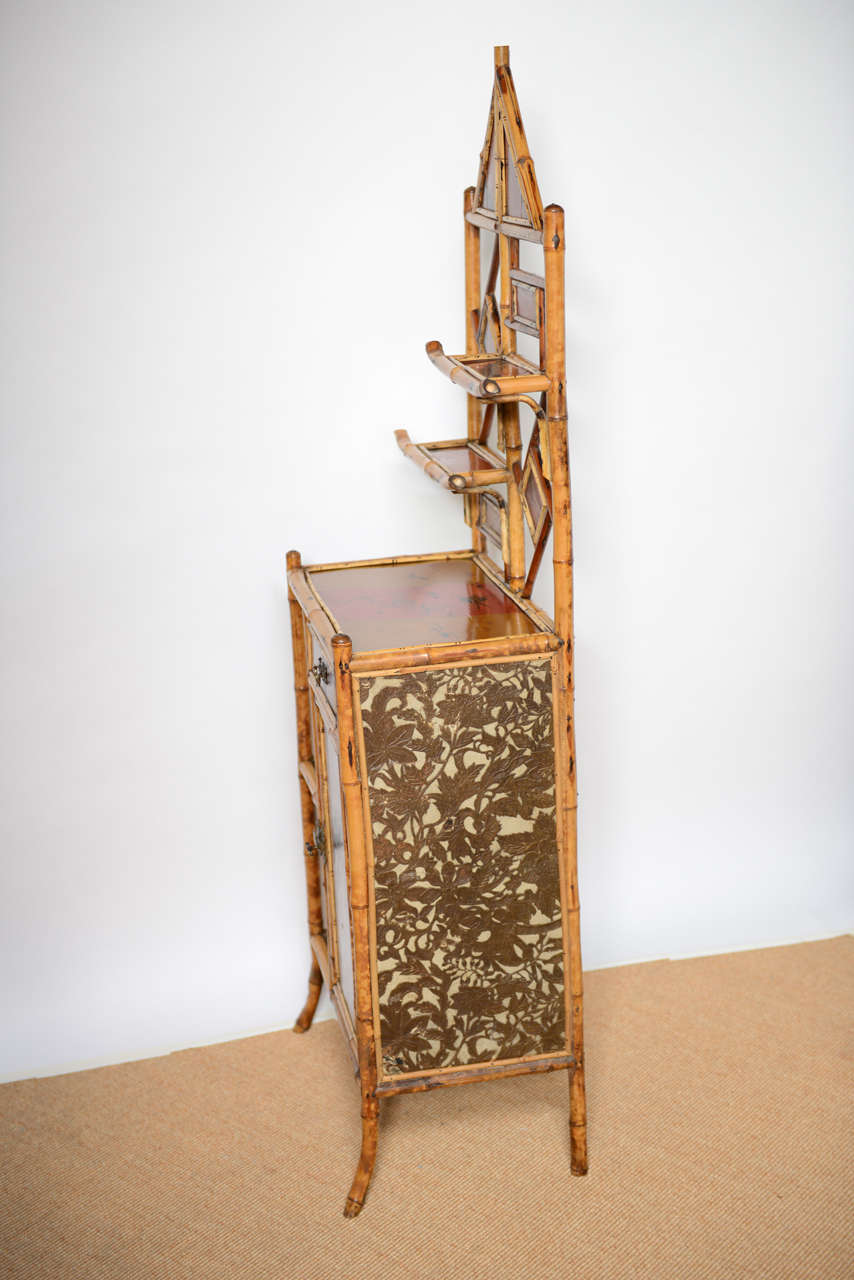 Antique Bamboo Pagoda Etagere For Sale 5