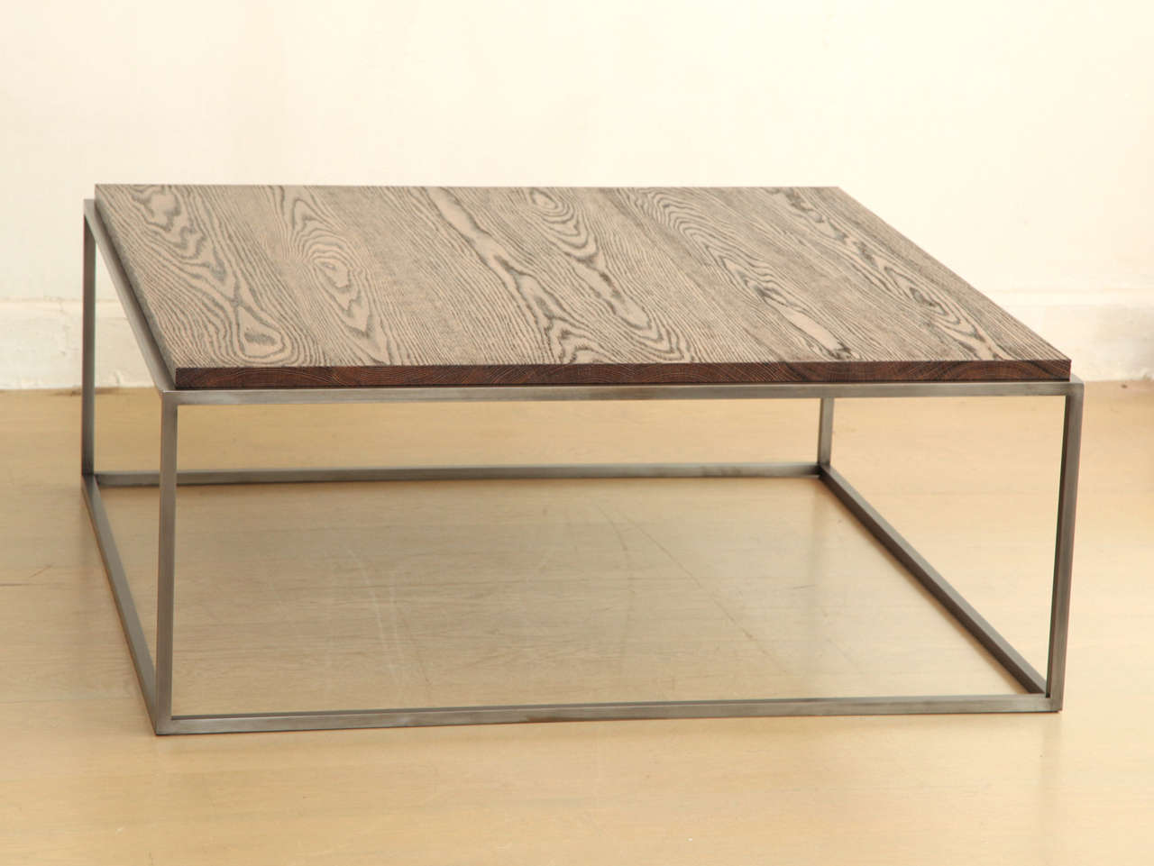 Made To Order Distressed Oak Wood Coffee Table At 1stdibs